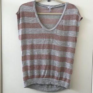 Anthropologie- Splendid Striped Metallic Top